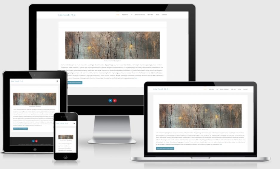 Dr. Liila Taruffi - Website Design and Development